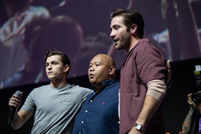 Tom Holland, Jacob Batalon e Jake Gyllenhaal