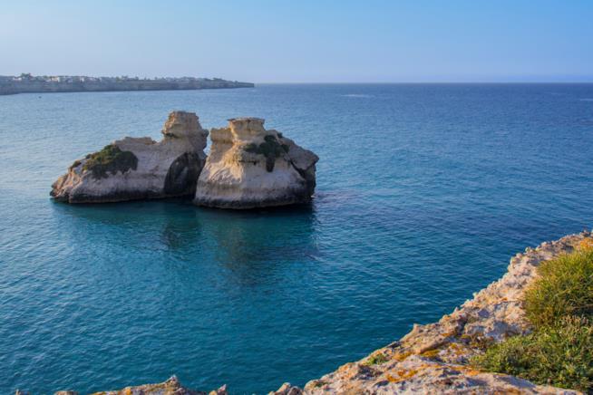 Spiaggia delle Due Sorelle, Torre dell'Orso, Salento, Italia.