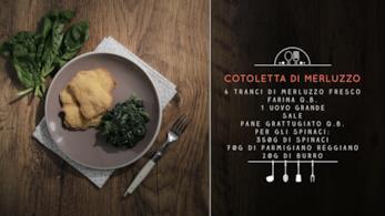 Cotoletta di merluzzo e spinaci