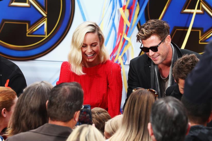 Brie Larson e Chris Hemsworth al Disney Resort in Anaheim