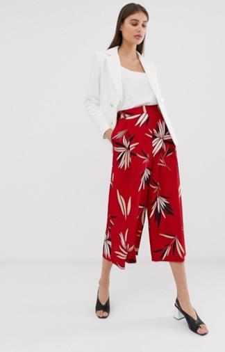 Pantaloni con fondo ampio a fiori astratti