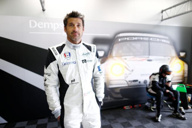 Patrick Dempsey a un evento dedicato alle corse automobilistiche