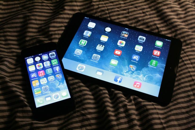 Tablet e smartphone.