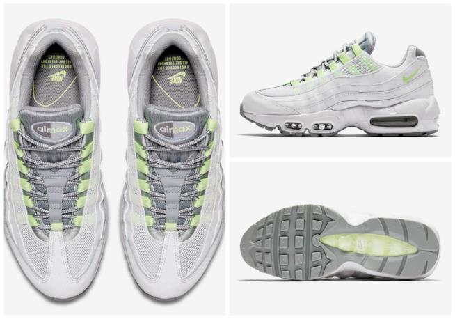Varie angolazioni del modello Nike Air Max 95 OG Neon