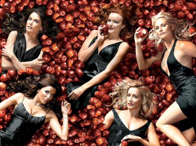 Il cast di Desperate Housewives immerso nelle mele