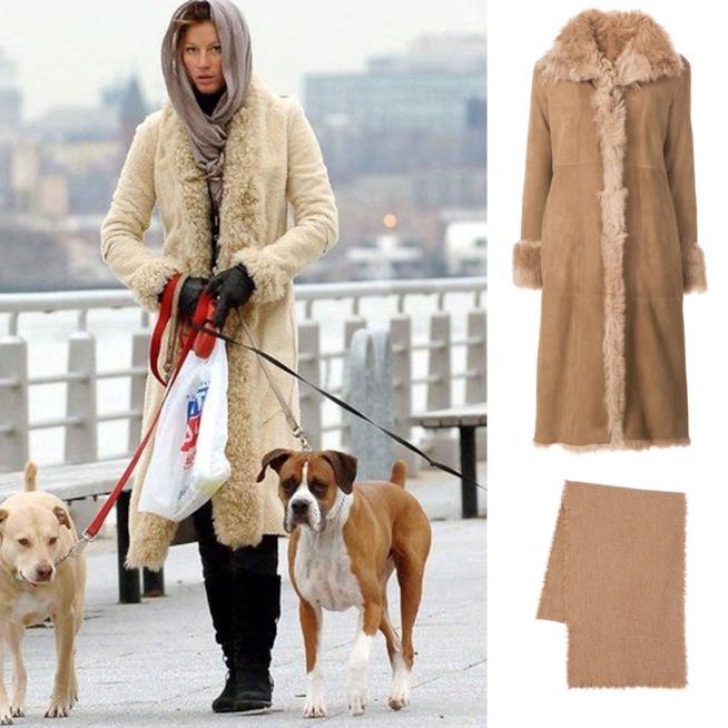 Look di Gisele Bundchen che porta a spasso il cane