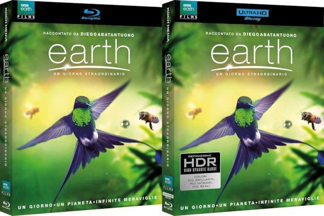 Due versioni home video di Earth - Un giorno straordinario