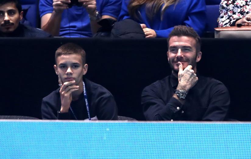 David Beckham e il figlio Romeo