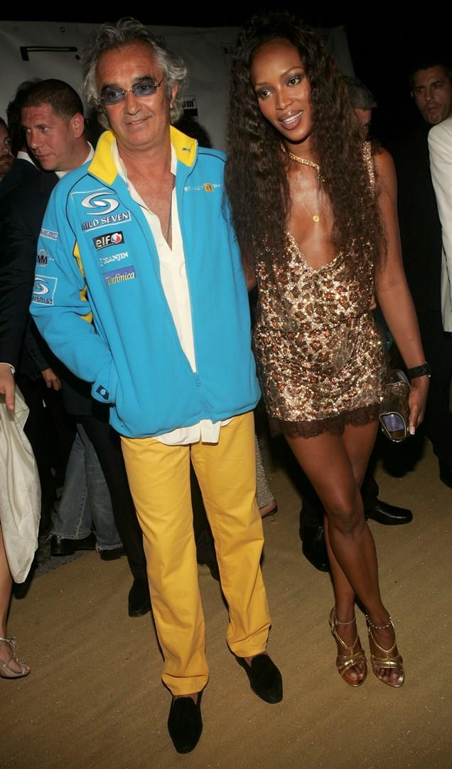 Naomi Campbell con Flavio Briatore