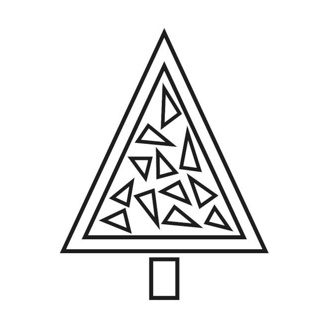 Albero di Natale con elementi triangolari da colorare