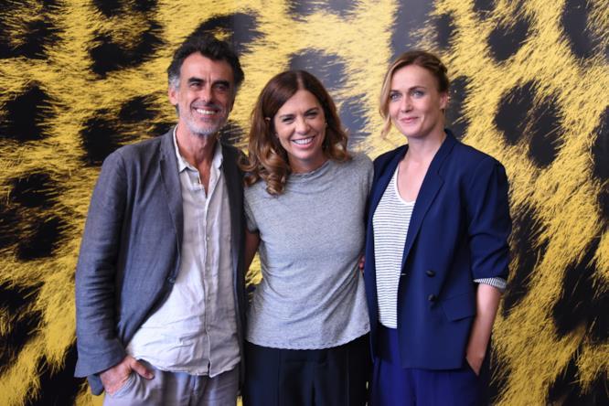 Francesca Comencini, Thomas Trabacchi e Lucia Mascino al photocall di Locarno 70