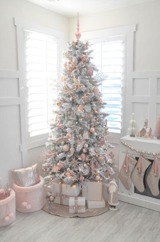 Albero natalizio total white