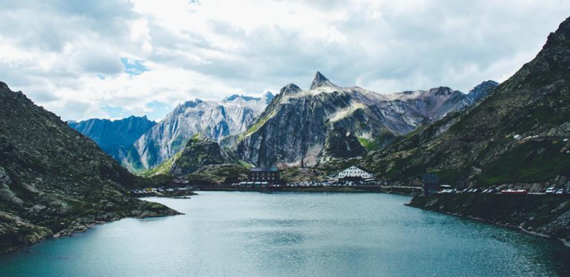 Panorama invernale, Alpi Svizzere