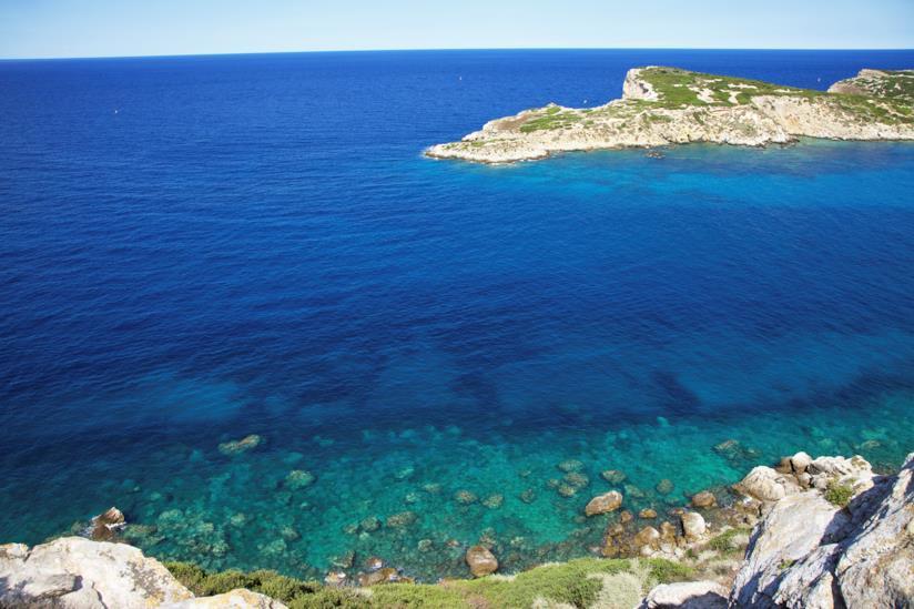 Il mare dell'isola di Capraia, nelle Tremiti