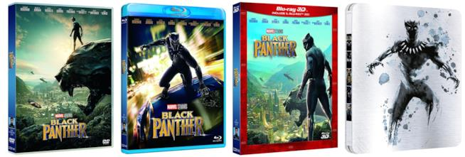 Il film Black Panther in quattro versioni home video