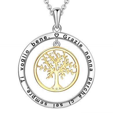 Collana incisa con albero della vita