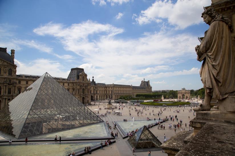 Vista del Louvre, il museo più visitato al mondo