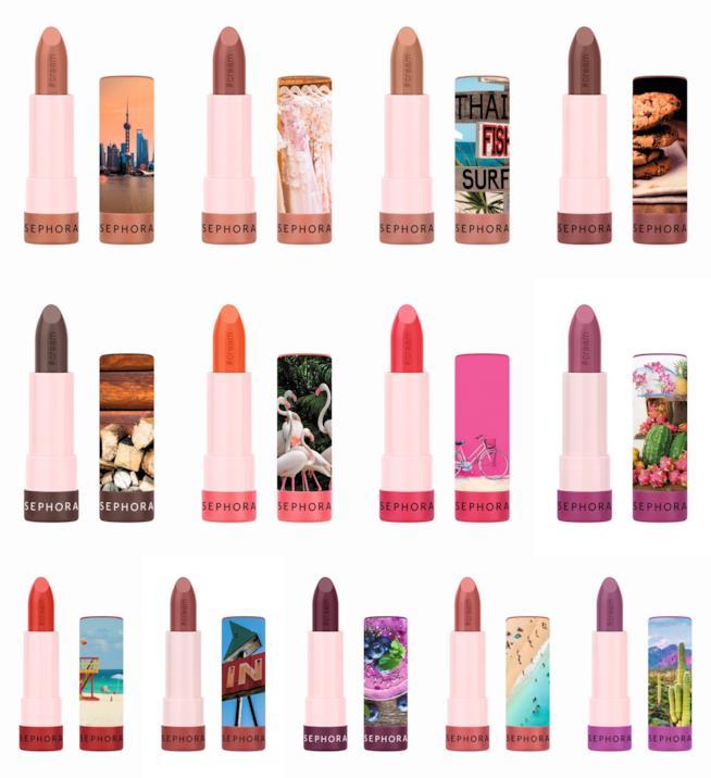i rossetti effetto satin della collezione #Lipstories di Sephora