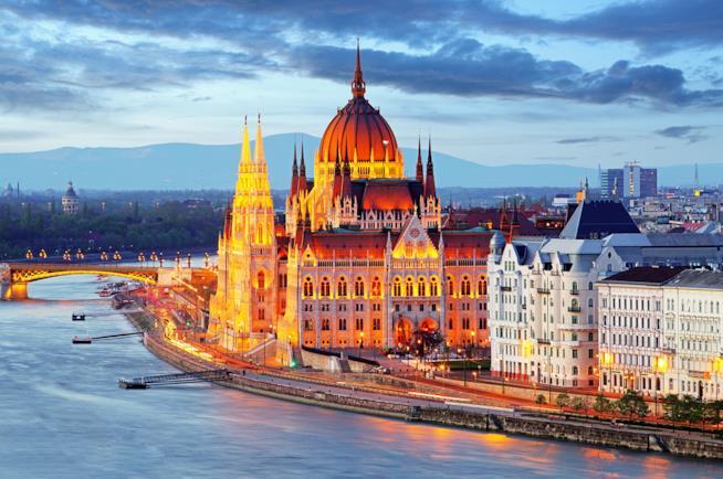 Parlamento di Budapest in Ungheria