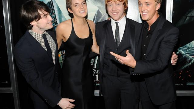 Tom Felton ed Emma Watson di nuovo insieme: le foto della reunion a tema Harry Potter