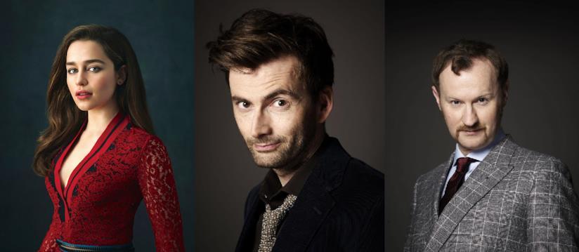 David Tennant, Emilia Clarke e Mark Gatiss