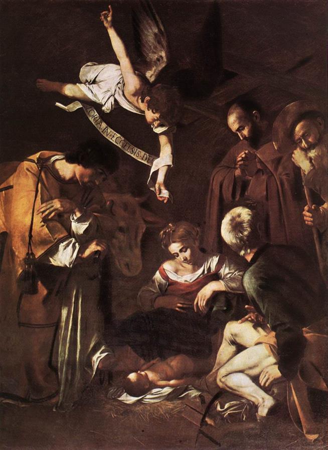 Natività con i santi Lorenzo e Francesco d'Assisi di Caravaggio