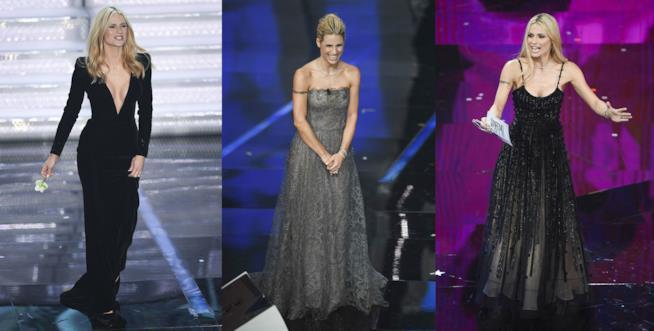 Michelle Hunziker ha indossato gli splendidi abiti di Armani Privé