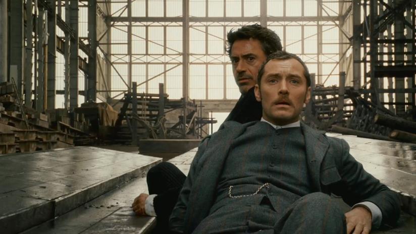 Jude Law e Robert Downey Jr sono John Watson e Sherlock Holmes