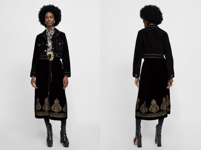 Gonna effetto velluto moda autunno 2018