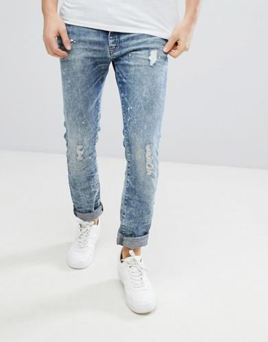 Jeans slim invecchiati