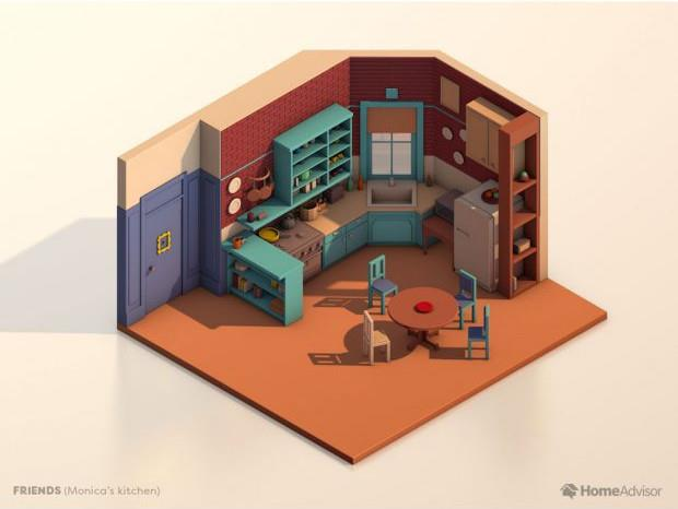 La piantina della cucina di Friends