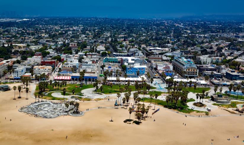 Venice Beach vista dall'alto