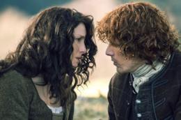 Claire e Jamie si guardano affranti