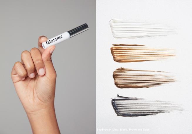 Il brand americano Glossier e Boy Brow, il mascara colorato per sopracciglia vero bestseller