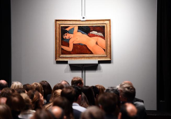 Il Modigliani, Nu Couché, esposto da Christie's per l'asta vinta da Liu Yiquian