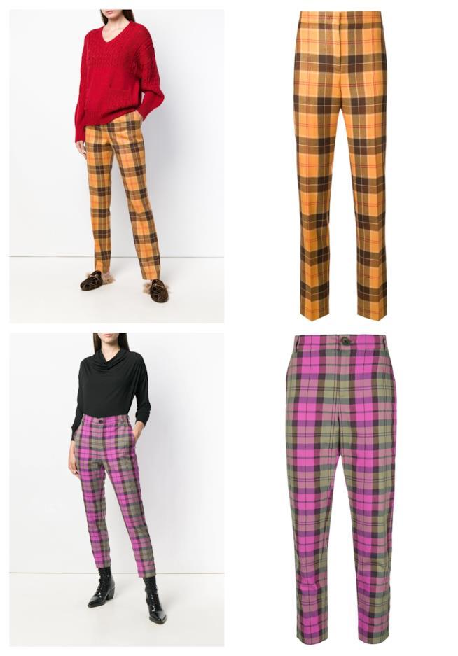 A quadretti scozzesi, i pantaloni di tendenza tartan A/I 2018-19