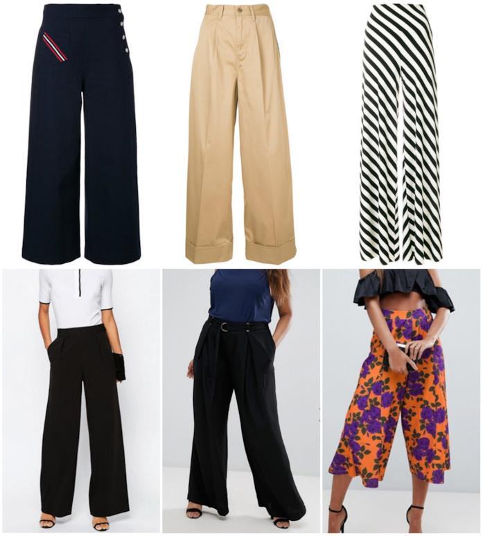Collage di pantaloni palazzo