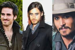 Gli attori Colin O'Donoghue, Jared Leto e Johnny Depp sfoggiano i loro occhi truccati