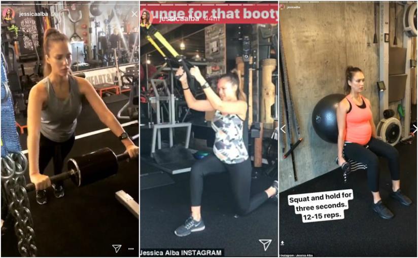 Jessica Alba condivide i suoi esercizi nelle Instagram Stories