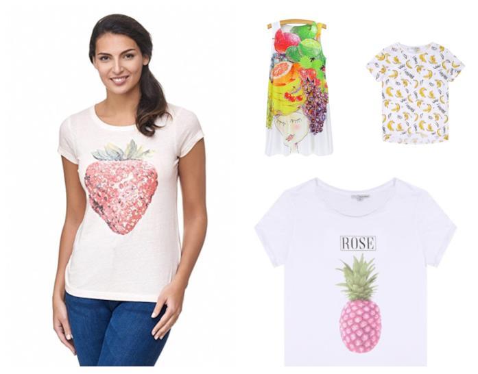 Con le stampe della frutta, le magliette di tendenza per l'estate 2018