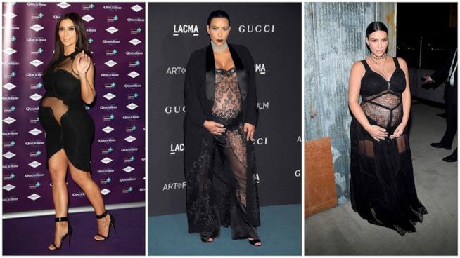 I look hot con pancione di Kim Kardashian