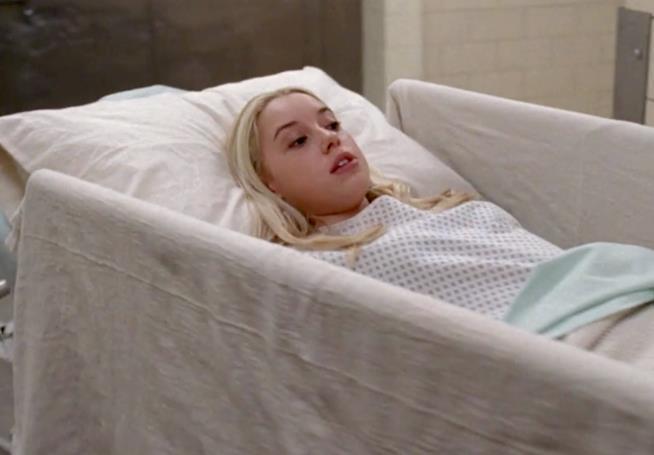 Katie Bryce durante il primo episodio di Grey's Anatomy