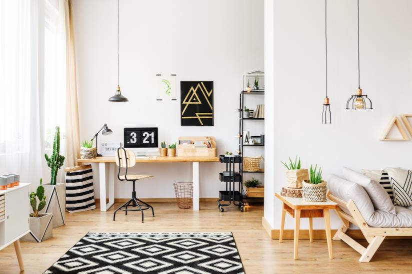 Tante idee di design per arredare uno studio domestico