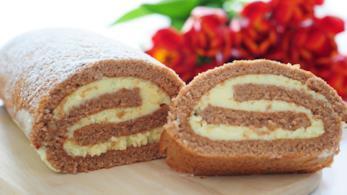 Rotolo di Pan di Spagna al cacao