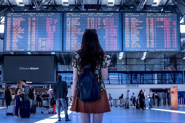 Turista all'aeroporto
