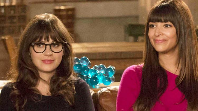 Zooey Deschanel e Hannah Simone in New Girl