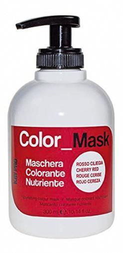Maschera colorata rosso ciliegia