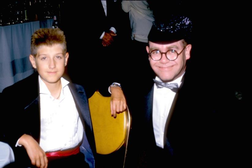 Elton John con Ryan White, morto di AIDS nel 1990