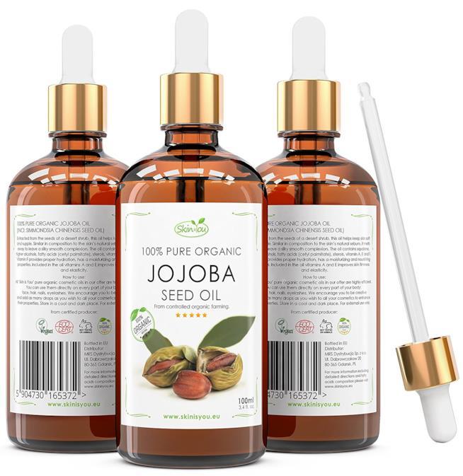 Confezioni di olio di jojoba