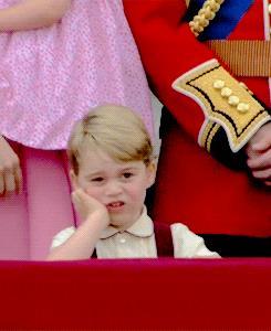 La faccina scocciata del Principe George